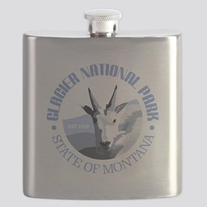 Glacier National Park (goat) Flask