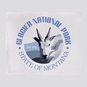 Glacier National Park (goat) Throw Blanket