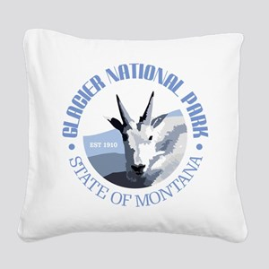 Glacier National Park (goat) Square Canvas Pillow