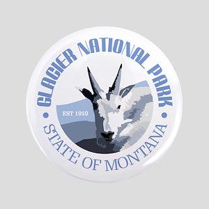 """Glacier National Park (goat) 3.5"""" Button"""