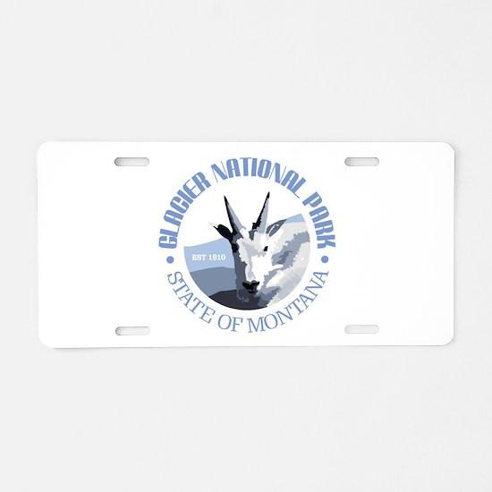 Glacier National Park (goat) Aluminum License Plat
