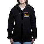 I Love Snowmobiles Women's Zip Hoodie
