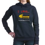 I Love Snowmobiles Women's Hooded Sweatshirt