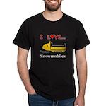 I Love Snowmobiles Dark T-Shirt