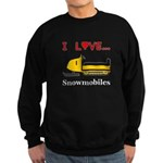 I Love Snowmobiles Sweatshirt (dark)