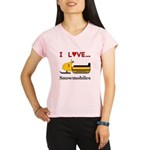 I Love Snowmobiles Performance Dry T-Shirt