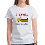 I Love Snowmobiles Women's T-Shirt