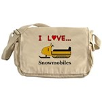 I Love Snowmobiles Messenger Bag