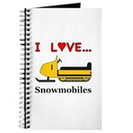 I Love Snowmobiles Journal