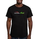 I Love Snowmobiles Men's Fitted T-Shirt (dark)