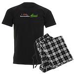 I Love Snowmobiles Men's Dark Pajamas