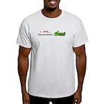 I Love Snowmobiles Light T-Shirt