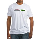 I Love Snowmobiles Fitted T-Shirt
