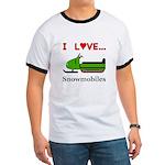 I Love Snowmobiles Ringer T