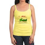 I Love Snowmobiles Jr. Spaghetti Tank