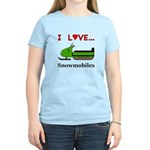 I Love Snowmobiles Women's Light T-Shirt
