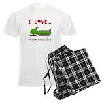 I Love Snowmobiles Men's Light Pajamas
