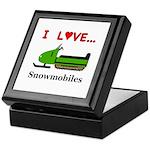 I Love Snowmobiles Keepsake Box
