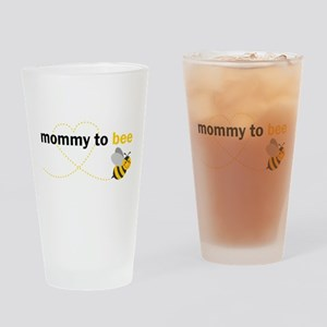 Mommy To Bee Drinking Glass