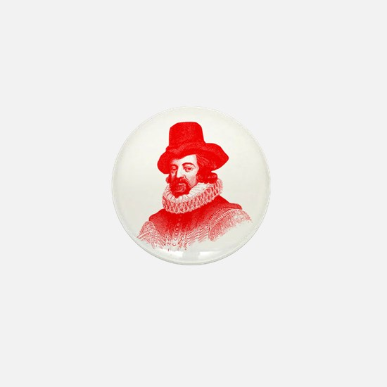 Francis Bacon in Red Mini Button