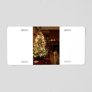 Christmas dog Aluminum License Plate