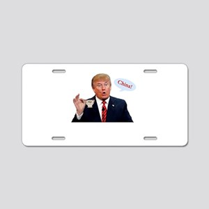 Donald Trump China Funny Aluminum License Plate