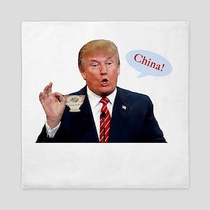Donald Trump China Funny Queen Duvet