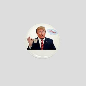 Donald Trump China Funny Mini Button