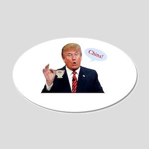Donald Trump China Funny Wall Decal