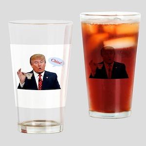 Donald Trump China Funny Drinking Glass