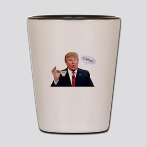 Donald Trump China Funny Shot Glass