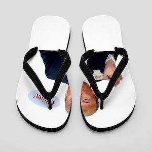 Donald Trump China Funny Flip Flops