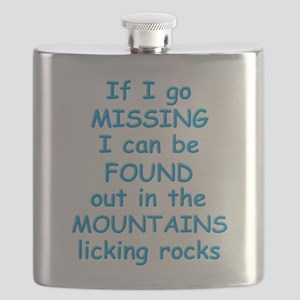 I'm out in the mountains, licking rocks Flask