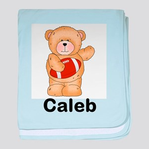 Caleb's Football Bear baby blanket