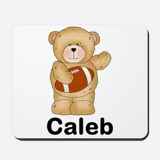Caleb's Football Bear Mousepad