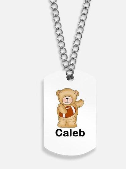 Caleb's Football Bear Dog Tags