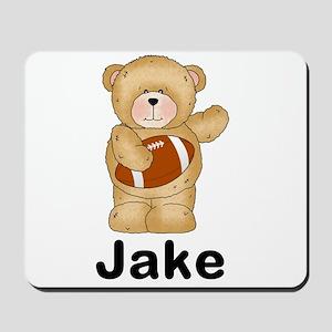 Jake's Football Bear Mousepad