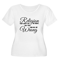 Religion All Wrong Plus Size T-Shirt