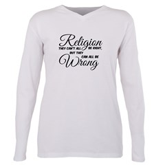 Religion All Wrong Plus Size Long Sleeve Tee