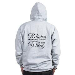 Religion All Wrong Zipped Hoody Zip Hoodie