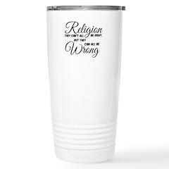Religion all Wrong Travel Mug