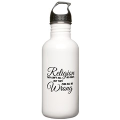 Religion all Wrong Water Bottle