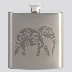 Mandala Elephant Grey Flask
