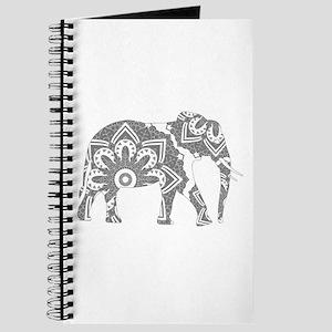 Mandala Elephant Grey Journal