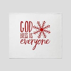 God Bless Us Everyone Throw Blanket
