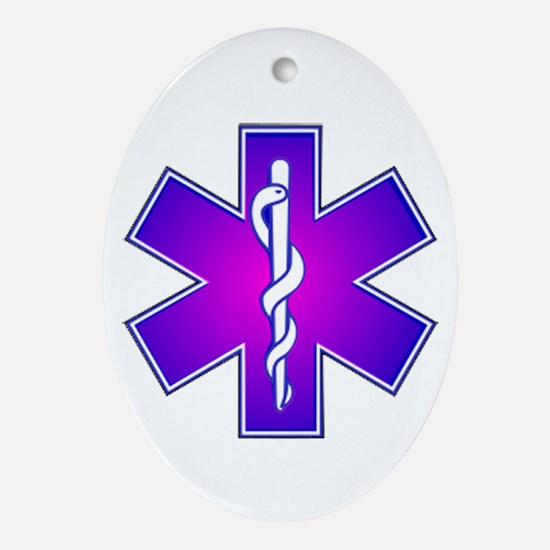 Star of Life Oval Ornament