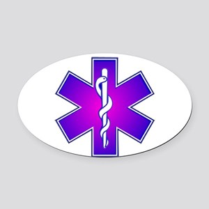 Star of Life Oval Car Magnet