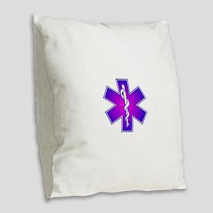 Star of Life Burlap Throw Pillow