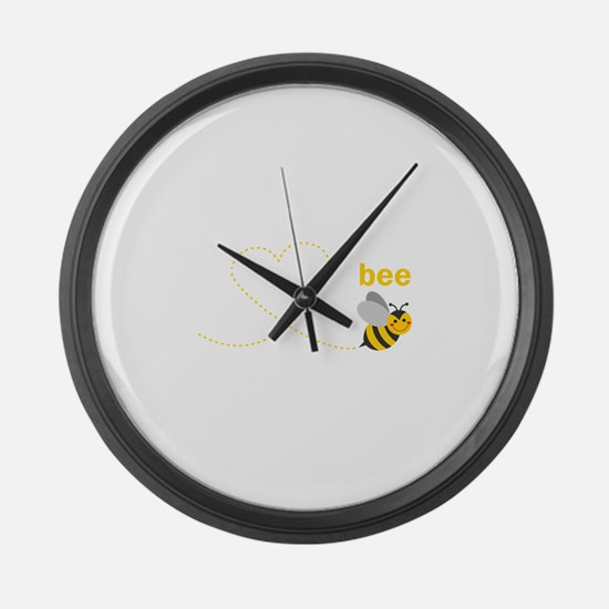 Mommy To Bee Large Wall Clock
