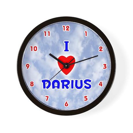 I Love Darius (Red/Bl) Valentine Wall Clock